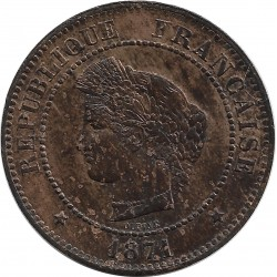 FRANCE 5 CENTIMES CERES 1871 A SUP