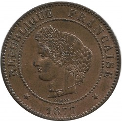 FRANCE 5 CENTIMES CERES 1877 A SUP
