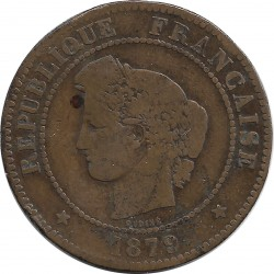 FRANCE 5 CENTIMES CERES 1879 A TB