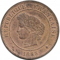 FRANCE 5 CENTIMES CERES 1885 A SUP