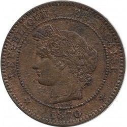 FRANCE 10 CENTIMES CERES 1870 A petit a TTB