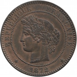 FRANCE 10 CENTIMES CERES 1872 K SUP