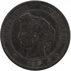 FRANCE 10 CENTIMES CERES 1874 A TB