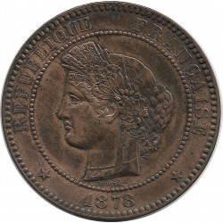FRANCE 10 CENTIMES CERES 1878 A SUP-