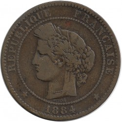 FRANCE 10 CENTIMES CERES 1884 A TB+