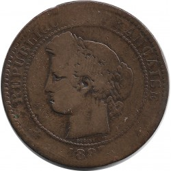 FRANCE 10 CENTIMES CERES 1887 A B-