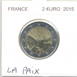 FRANCE 2015 2 EURO COMMEMORATIVE LA PAIX SUP