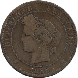 FRANCE 10 CENTIMES CERES 1888 A TB
