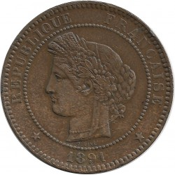 FRANCE 10 CENTIMES CERES 1891 A SUP-
