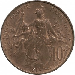 FRANCE 10 CENTIMES DUPUIS 1914 SUP