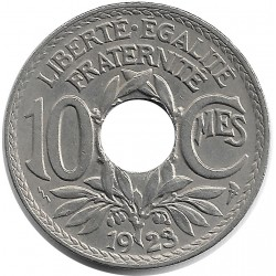 FRANCE 10 CENTIMES LINDAUER 1923 Poissy SUP