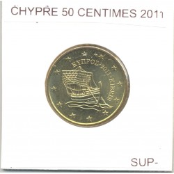 CHYPRE 2011 50 CENTIMES SUP-
