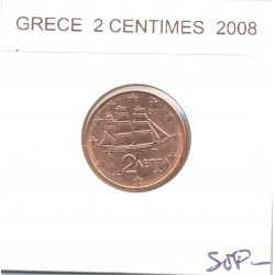 GRECE 2008 2 CENTIMES SUP-