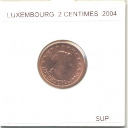 Luxembourg 2004 2 CENTIMES SUP-