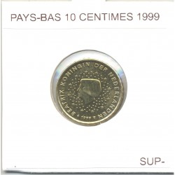 HOLLANDE (PAYS-BAS) 1999 10 CENTIMES SUP