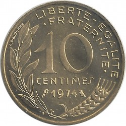 FRANCE 10 CENTIMES LAGRIFFOUL 1974 FDC