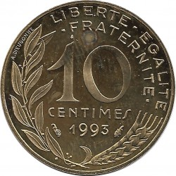 FRANCE 10 CENTIMES LAGRIFFOUL 1993 BE