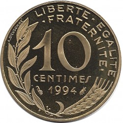 FRANCE 10 CENTIMES LAGRIFFOUL 1994 BE