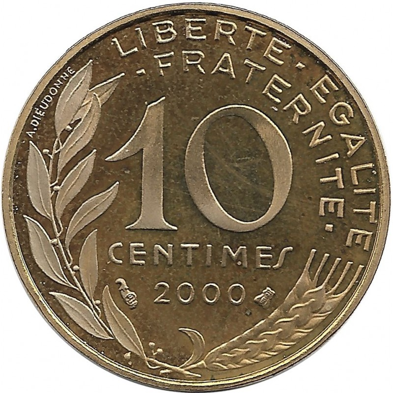 FRANCE 10 CENTIMES LAGRIFFOUL 2000 BE