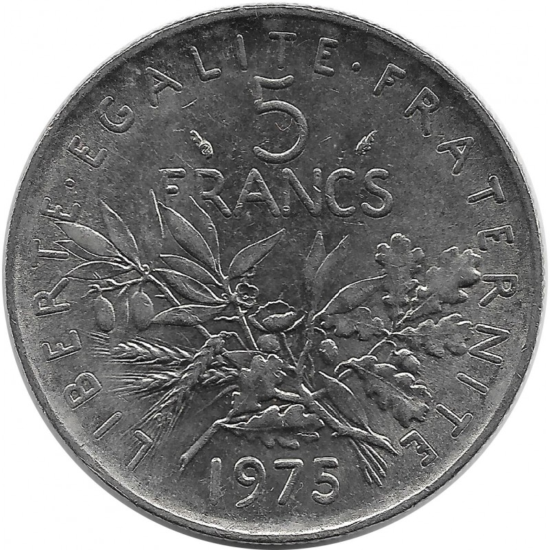 FRANCE 5 FRANCS ROTY 1975 SUP
