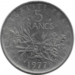 FRANCE 5 FRANCS ROTY 1977 SUP-
