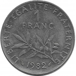 FRANCE 1 FRANC ROTY 1982 SUP