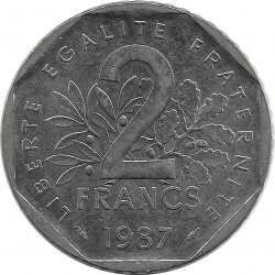 FRANCE 2 FRANCS ROTY 1987 SUP