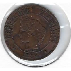 FRANCE 2 CENTIMES CERES 1889 A TB+