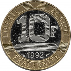 FRANCE 10 FRANCS GENIE 1992 BE