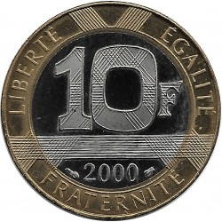 FRANCE 10 FRANCS GENIE 2000 BE