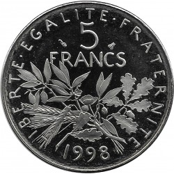 FRANCE 5 FRANCS ROTY 1998 BE