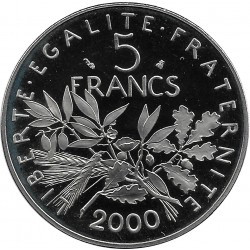 FRANCE 5 FRANCS ROTY 2000 BE