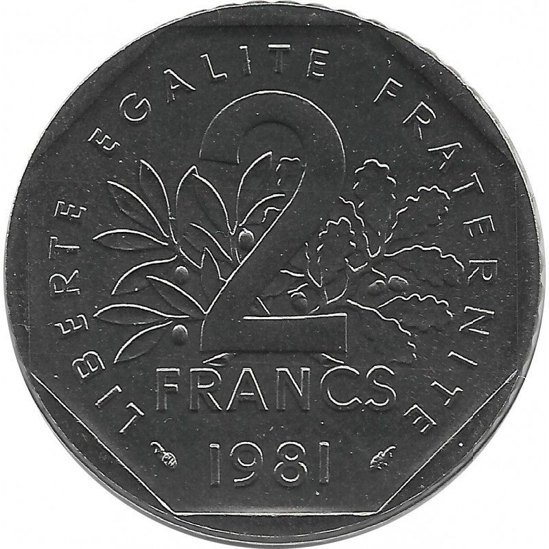 FRANCE 2 FRANCS ROTY 1981 FDC