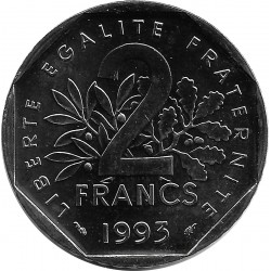 FRANCE 2 FRANCS ROTY 1993 FRAPPE MEDAILLE SUP/NC