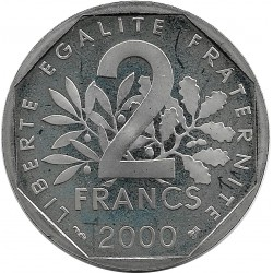 FRANCE 2 FRANCS ROTY 2000 BE