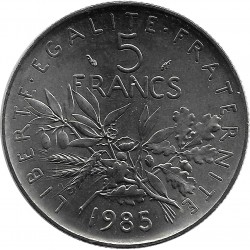 FRANCE 5 FRANCS ROTY 1985 SUP/NC