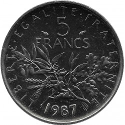 FRANCE 5 FRANCS ROTY 1987 SUP/NC