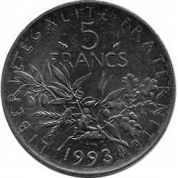 FRANCE 5 FRANCS ROTY 1993 SUP