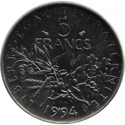 FRANCE 5 FRANCS ROTY 1994 Abeille BU