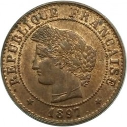 FRANCE 1 CENTIME CERES 1897 A SUP