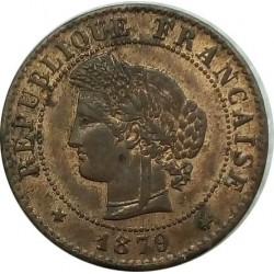 FRANCE 1 CENTIME CERES 1879 A SUP