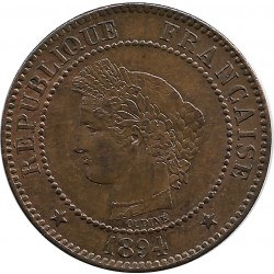 FRANCE 2 CENTIMES CERES 1894 A SUP-