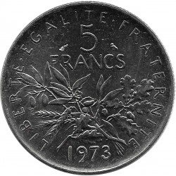 FRANCE 5 FRANCS SEMEUSE NICKEL 1973 SUP