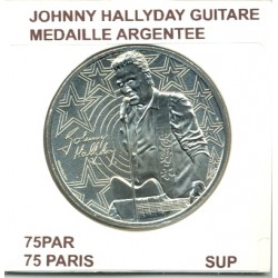 75 PARIS JOHNNY HALLYDAY GUITARE MEDAILLE ARGENTEE 2019 SUP