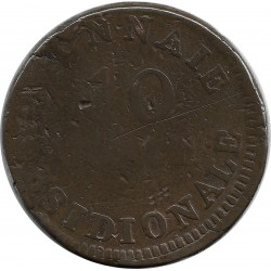 FRANCE 10 CENTIMES OBSIDIONALE 1814 B+