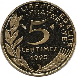 FRANCE 5 CENTIMES LAGRIFFOUL 1995 BE