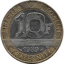 FRANCE 10 FRANCS GENIE 1989 SUP-