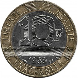 FRANCE 10 FRANCS GENIE 1989 SUP