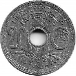FRANCE 20 CENTIMES LINDAUER 1945 B SUP/NC