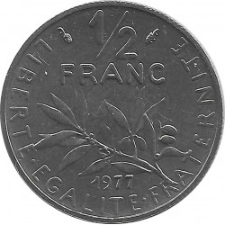 FRANCE 1/2 FRANC ROTY 1977 FDC